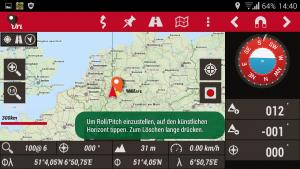 Navigation, OruxMaps Tripmeter