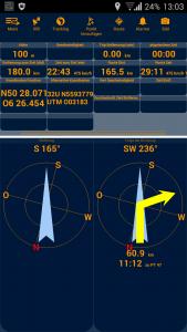 Navigation, Pathaway Kompassansicht