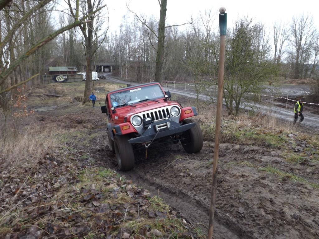 Jeep Wrangler beim Trial