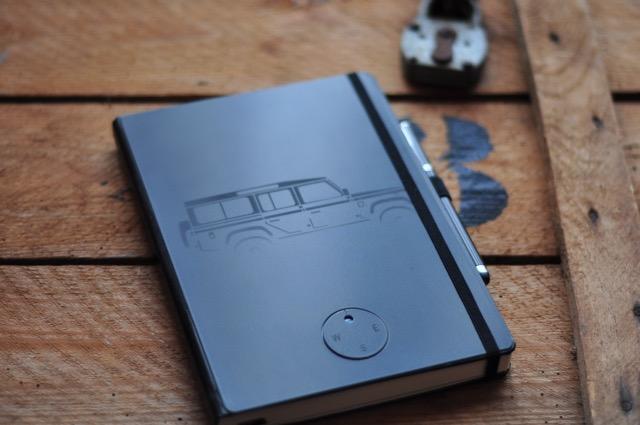 Notizbuch DIN A5 mit bedrucktem Aluminum-Cover