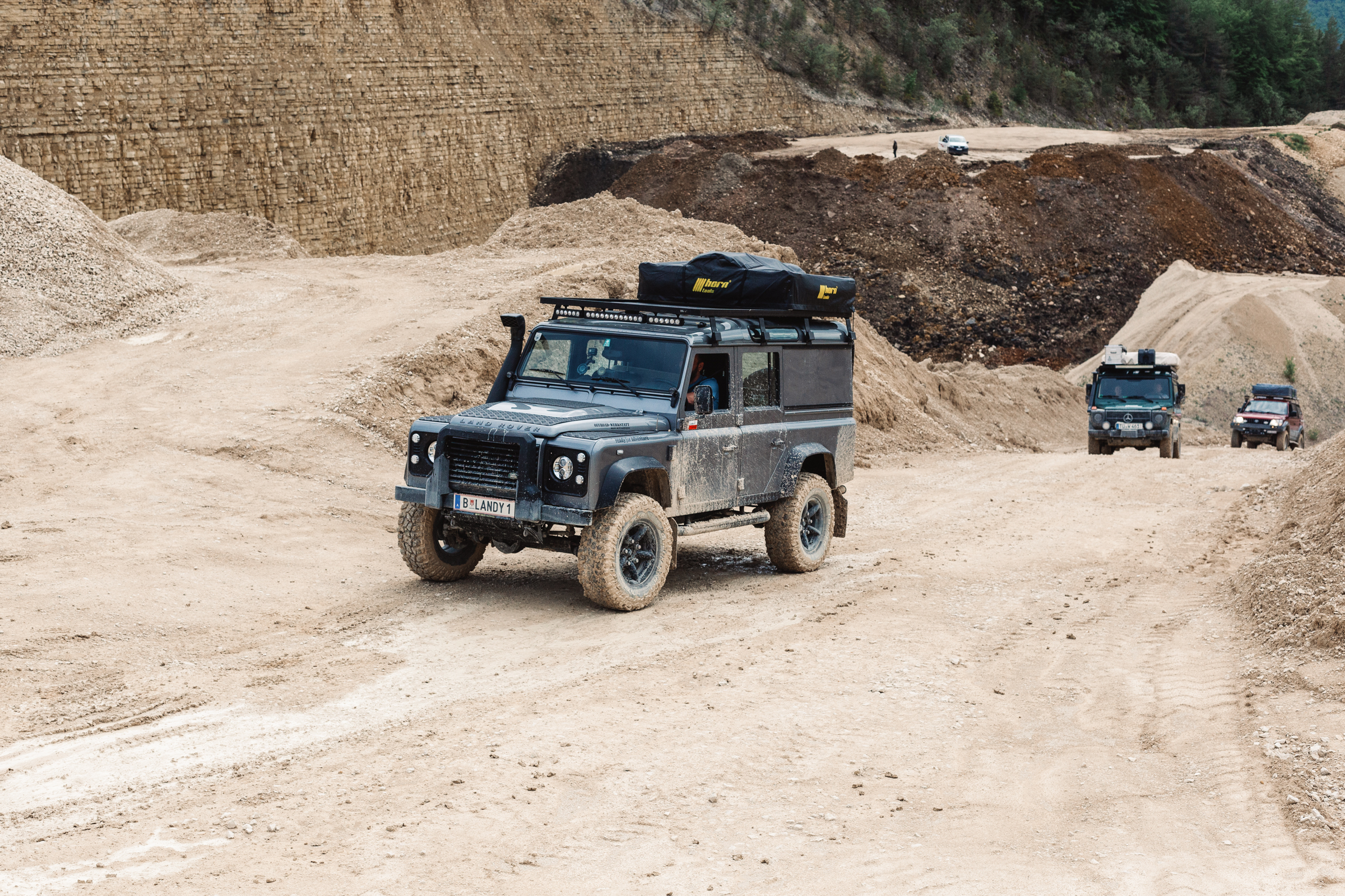 Freies Fahren im Steinbruch