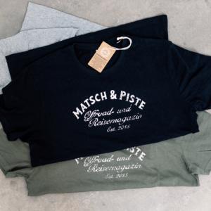 Matsch&Piste T-Shirt mit Vintage-Logo