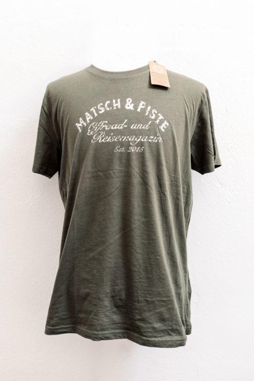 Matsch&Piste T-Shirt mit Vintage-Logo, oliv
