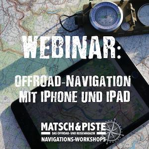 Webinar: Offroad-Navigation mit iPhone und iPad