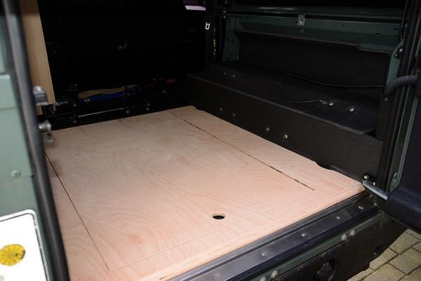 Bodenplatte für die Liegefläche