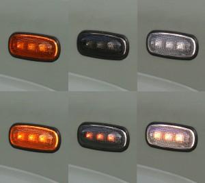 Led Blinker Orange Schwarz Wei+ƒ Detail II