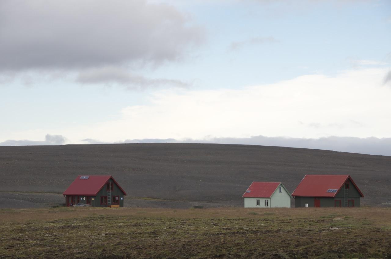 Hütten im Hochland, Island