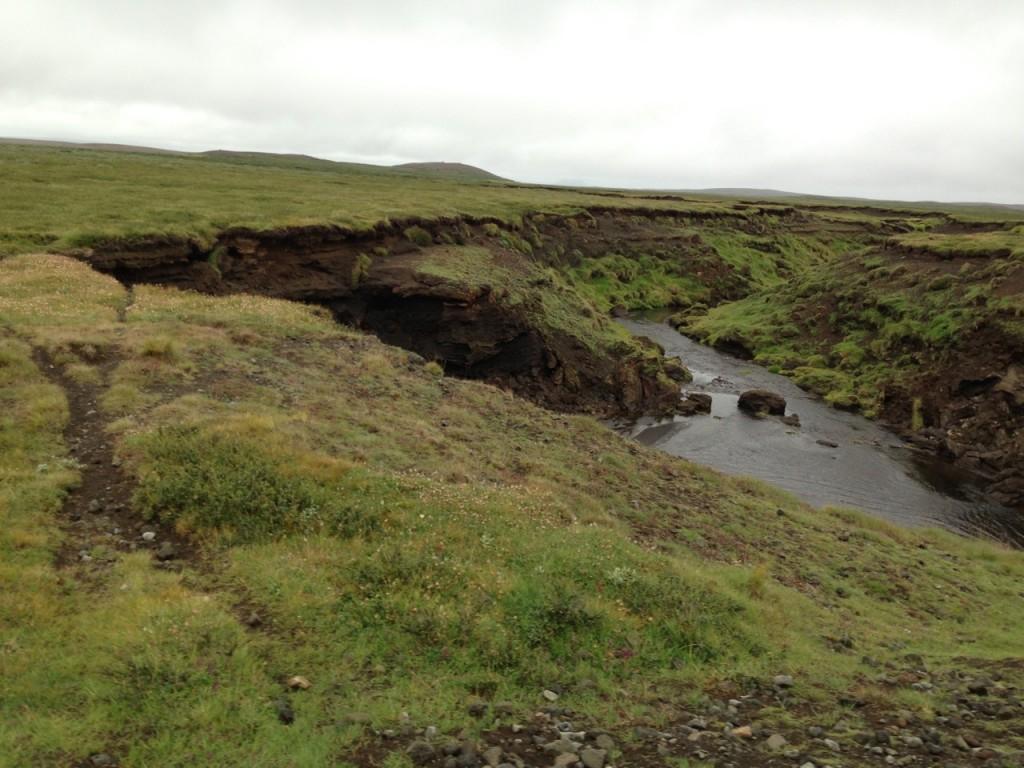Starke Erosion auf Island