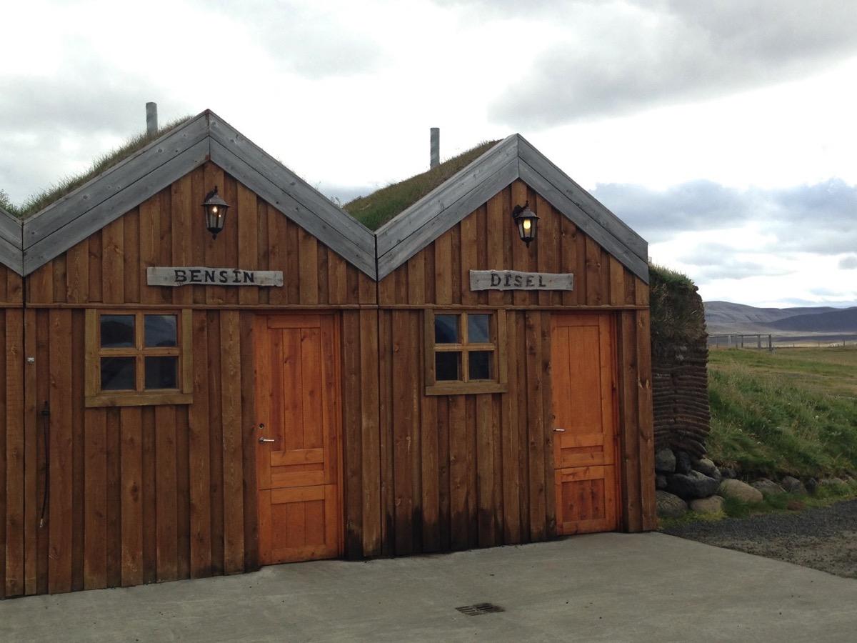 Tankstelle in Möðrudalur, Island