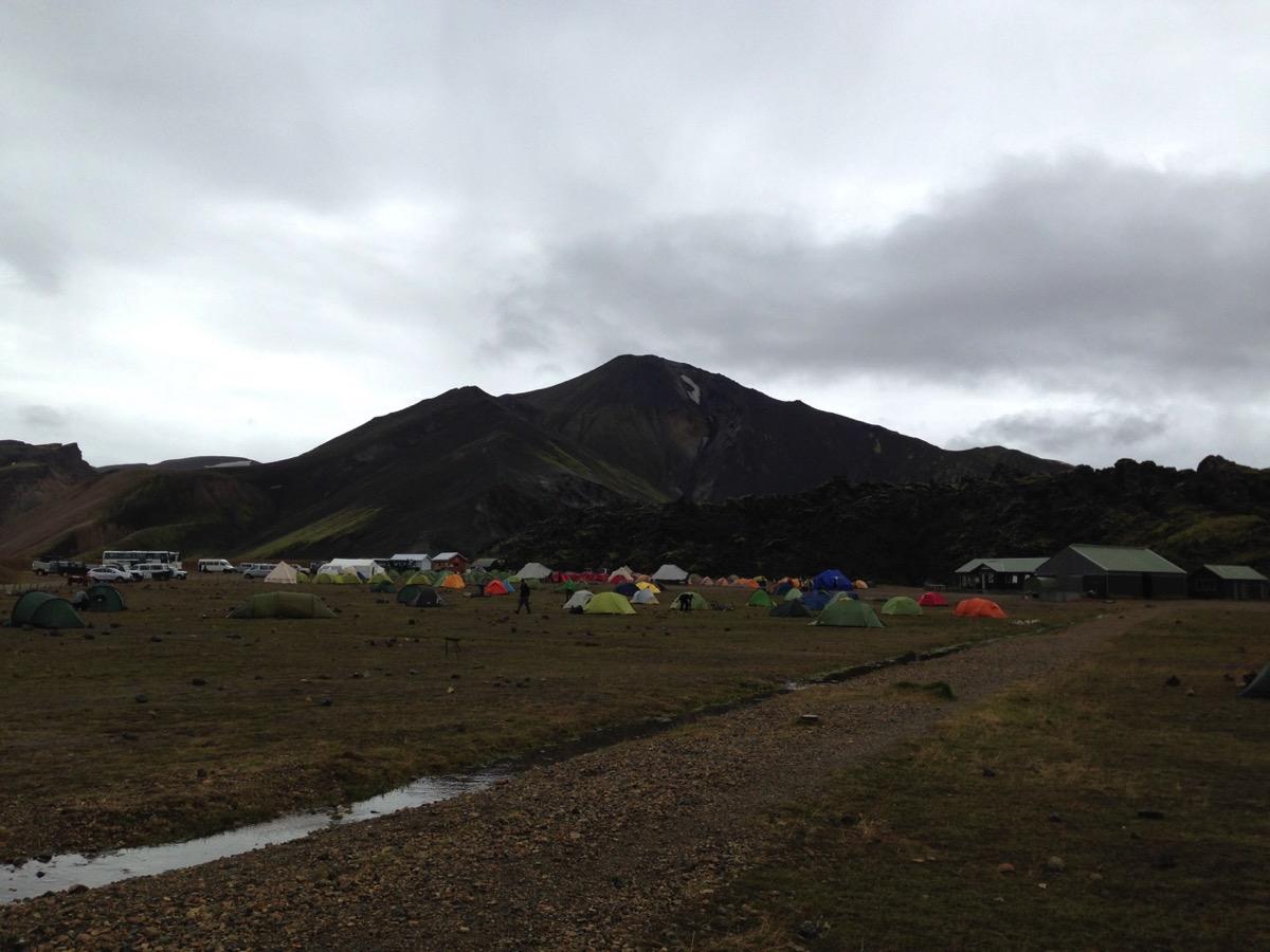 Campingplatz in Landmannalaugar, Island