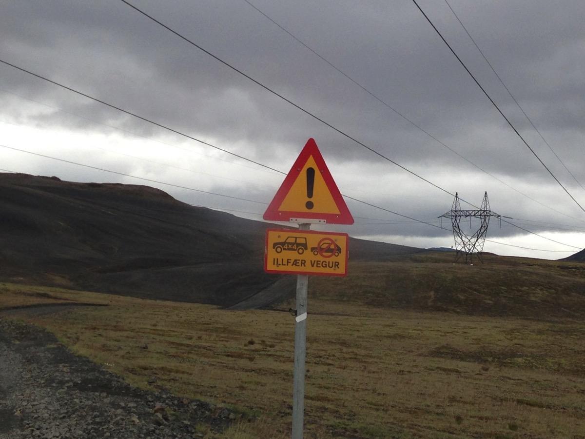 Nur für 4x4 Fahrzeuge Island