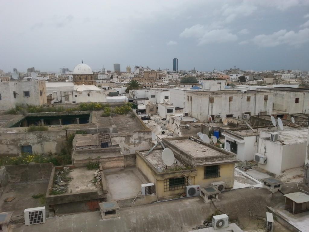 Die Medina von Tunis von oben.