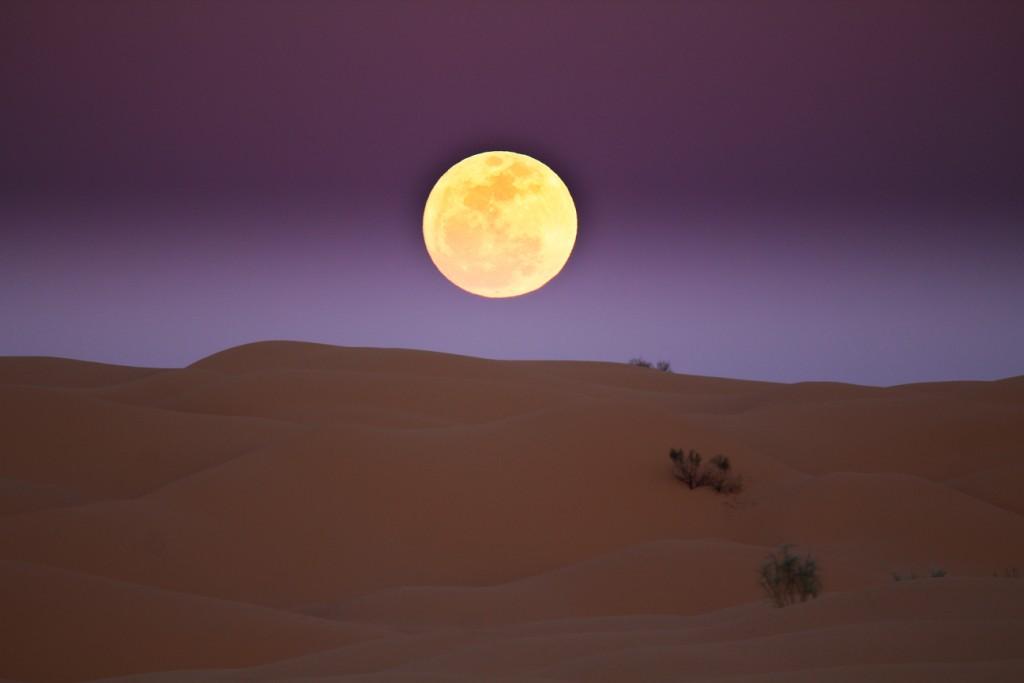 Die Einsamkeit in der Wüste. Sahara, Tunesien