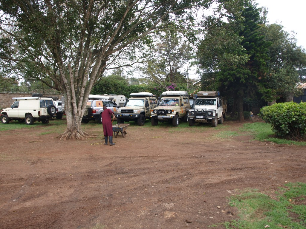 geparkte Overlander - Jungle Junction, Nairobi, Kenia