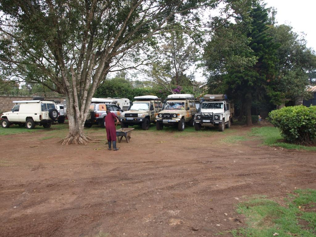geparkte Overlander - Jungle Junction, Nairobi, Kenia