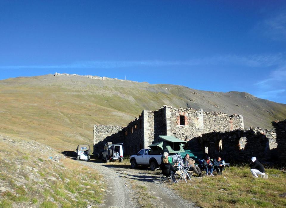 Unser Lagerplatz unterhalb des Monte Jafferau