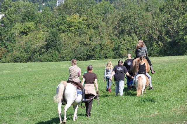 Ponyreiten für die Kinder
