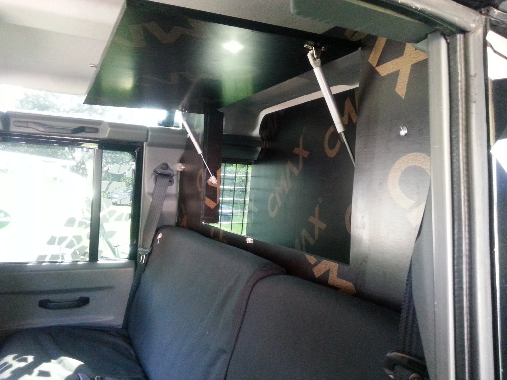 Adventure Playground Mietfahrzeug, Stauraum im Fahrzeug
