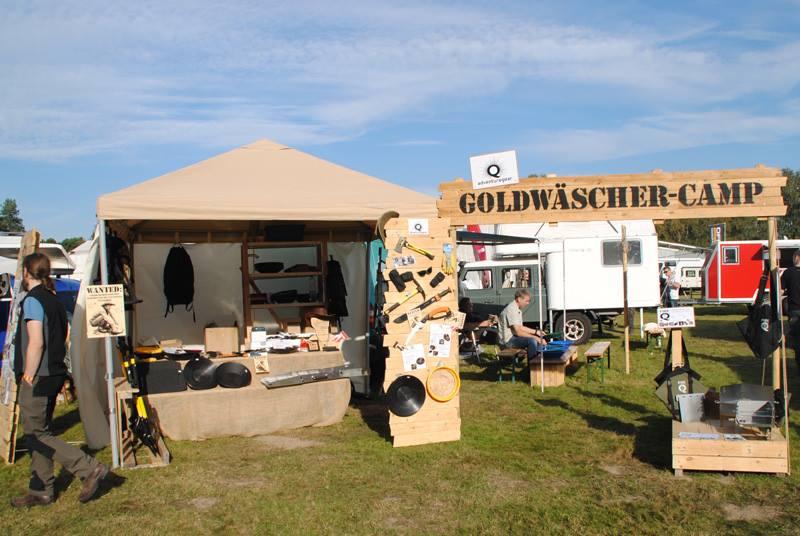 Gold waschen für Anfänger im Goldwäscher-Camp
