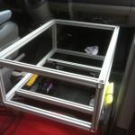 Kiste Beifahrersitz aus Bosch-Profilen