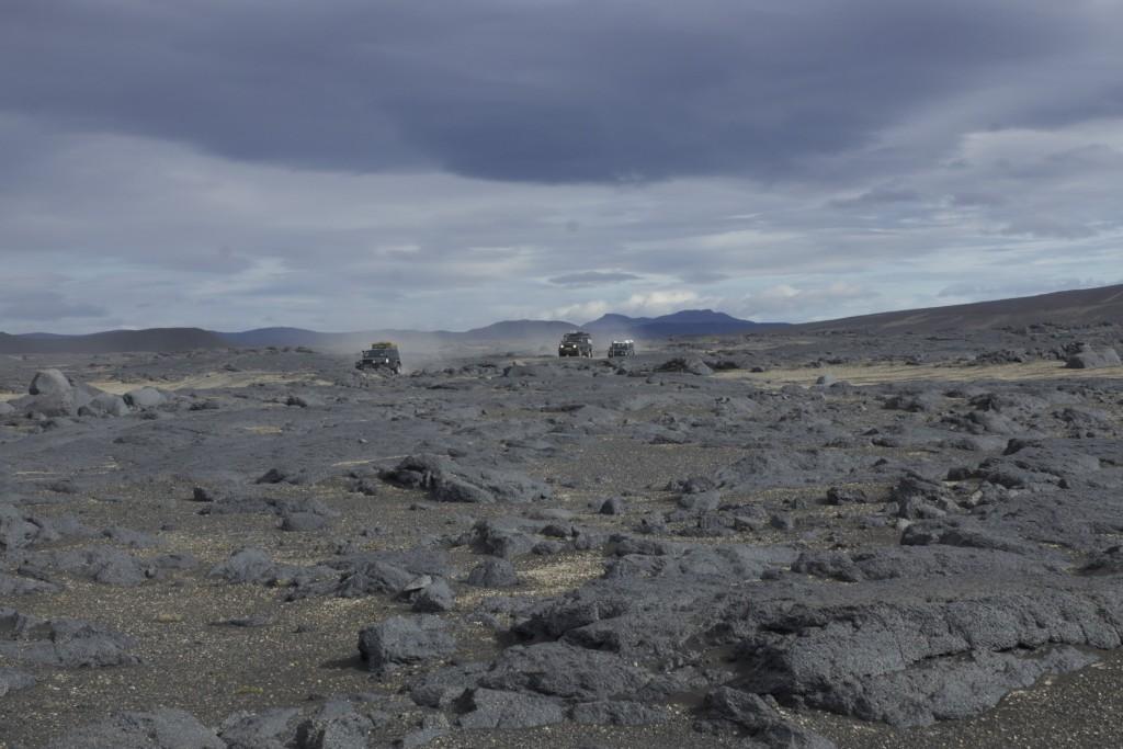 Defender auf Island