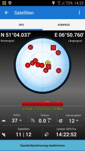 Navigation, Locus GPS Statusansicht