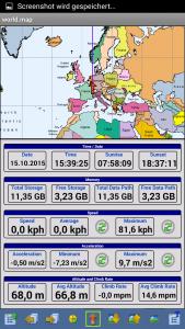 Offroad-Navigation mit Android - OziExplorer Informationsansicht