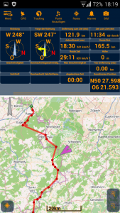 Offroad-Navigation mit Android - Pathaway Trackansicht