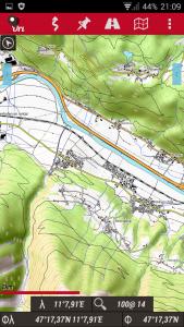 Navigation, Oruxmaps mit Overlay