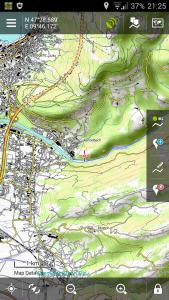 Navigation, Locus mit Overlay