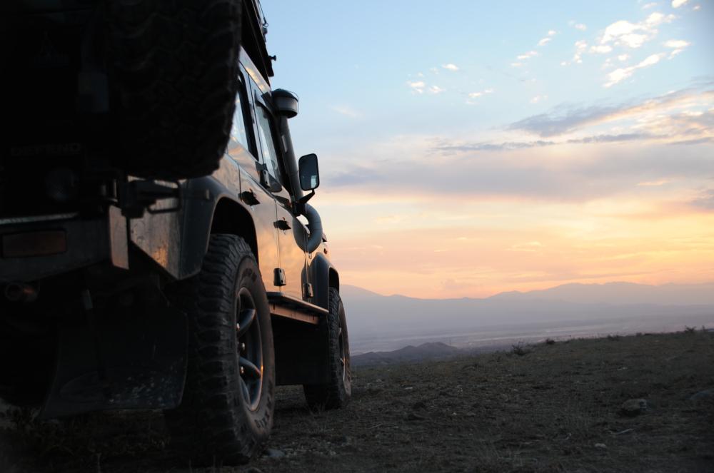 Sonnenuntergang in Armenien