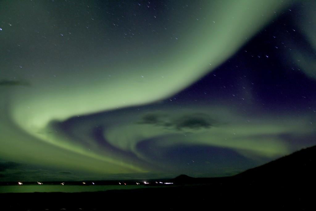 Nordlichter bei Reykjahlid, Island
