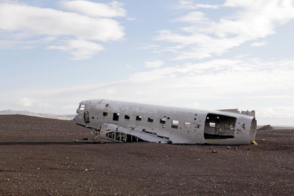 Flugzeugwrack bei Sólheimarsandur