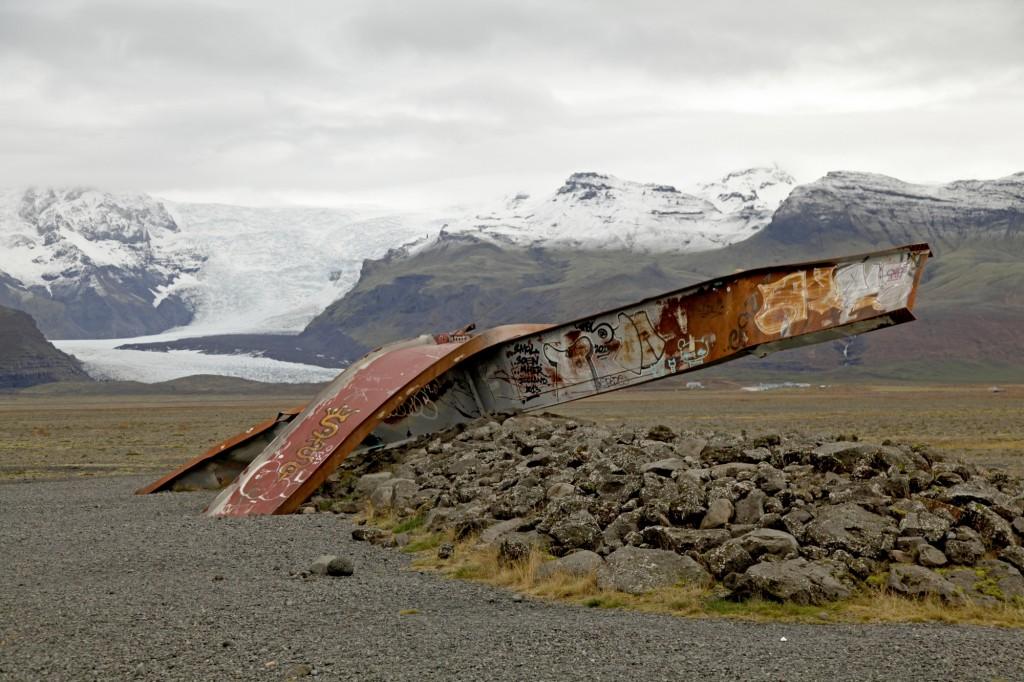 Zerstörte Brücke südlich des Skaftafell
