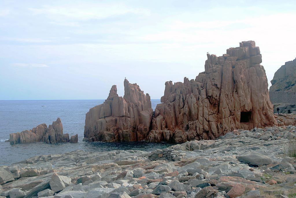 Die roten Felsen von Arbatax bei Tortoli.