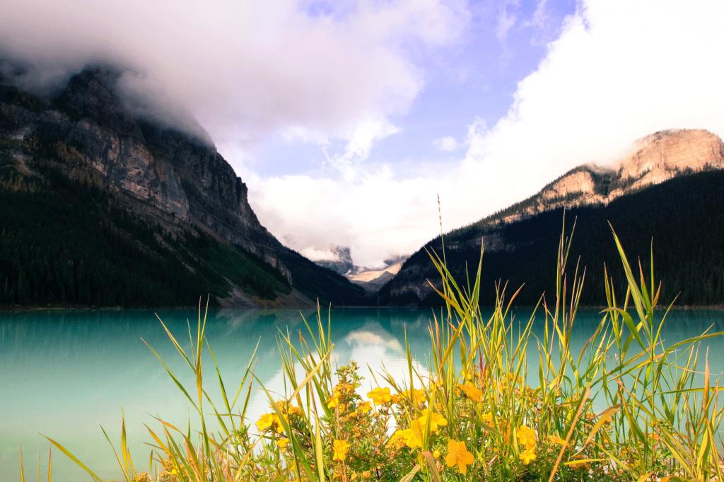 Wandern am Lake Louise, Kanada