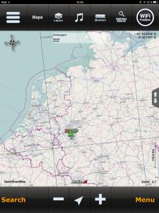 Navigation, MotionX HD Kartenansicht