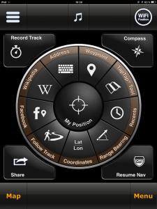 Navigation, MotionX HD Schnellzugriff