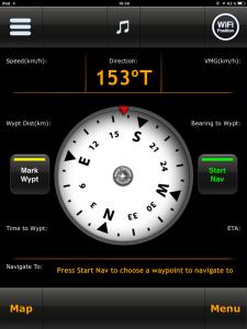 Navigation, MotionX HD Kompassansicht