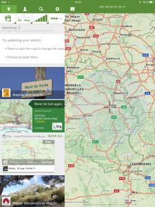Navigation, ViewRanger, Trackdatenbank zum Austausch