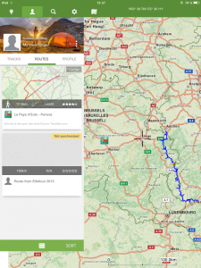 Navigation, ViewRanger, Profil mit Tracks und Routen