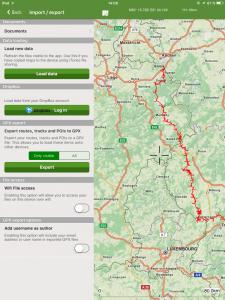 Navigation, ViewRanger, Daten Import/Export