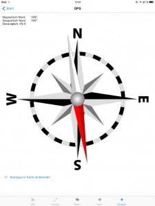 Navigation, QuoVadis Mobile, Kompass