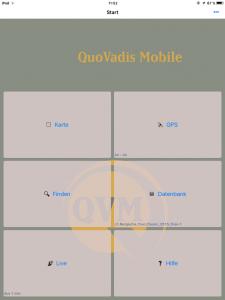 Navigation, QuoVadis, Hauptmenü