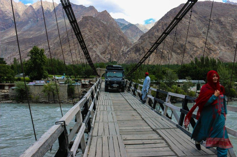 Typische Brücken in Pakistan