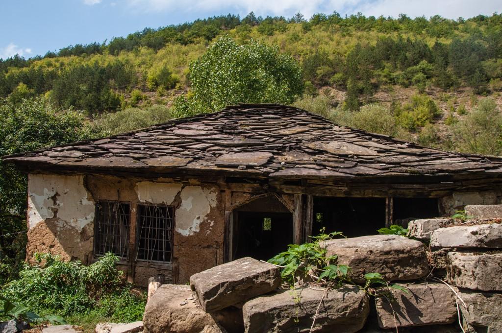 Ursprüngliche Dachbedeckung: Steinplatten statt Ziegel