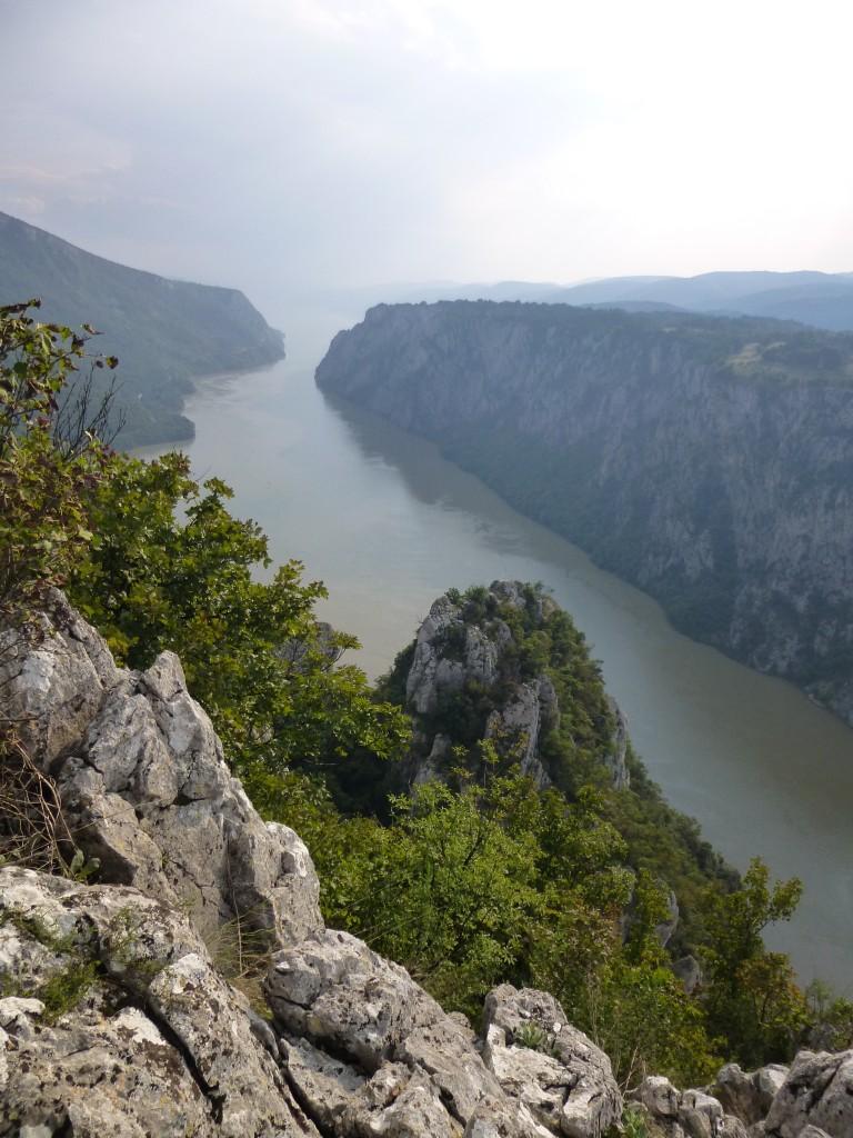Atemberaubender Blick hinunter auf den Donau-Durchbruch