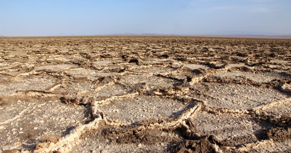 Salzpolygone des Namak-Salzsees