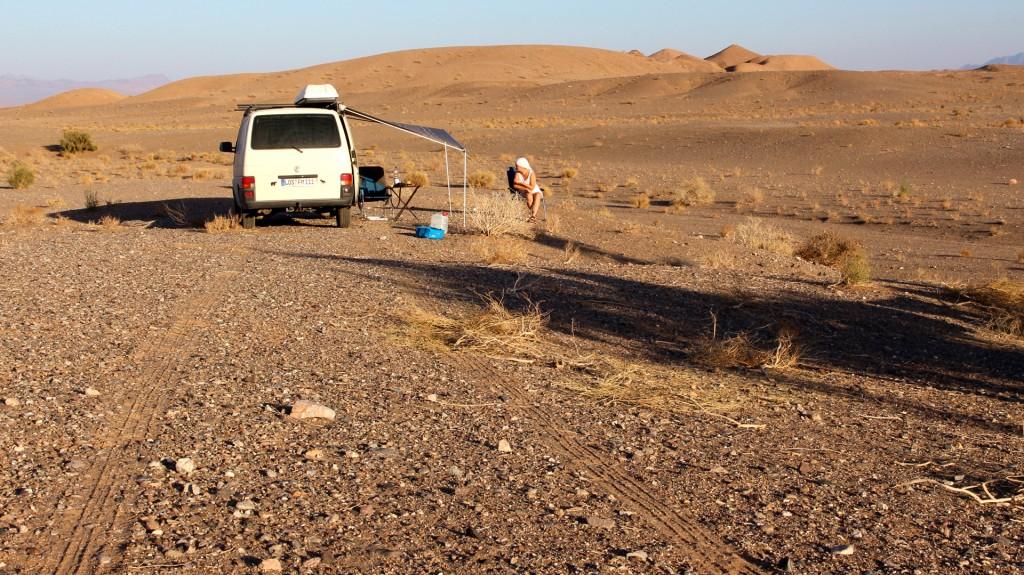 Stille, Einsamkeit und Fernblick in unserem Wüstencamp