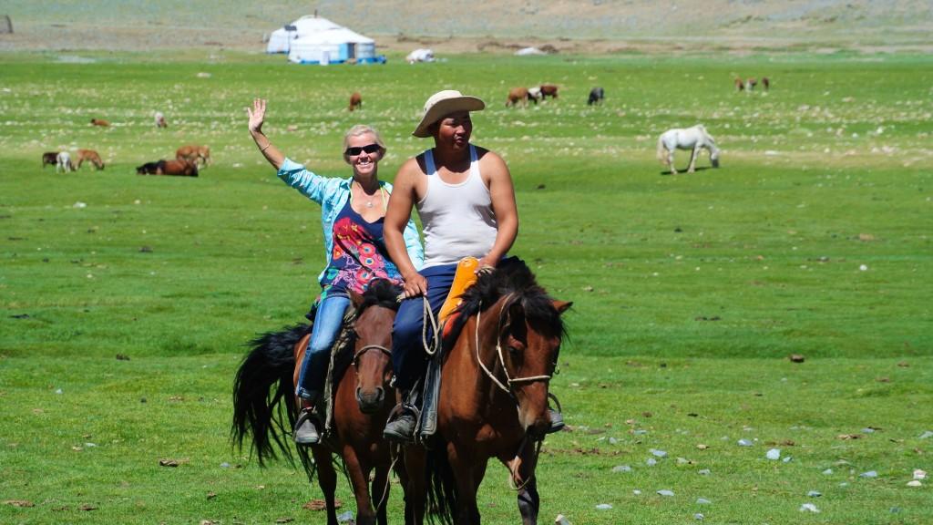Unser erster Ausritt mit den Mongolen.